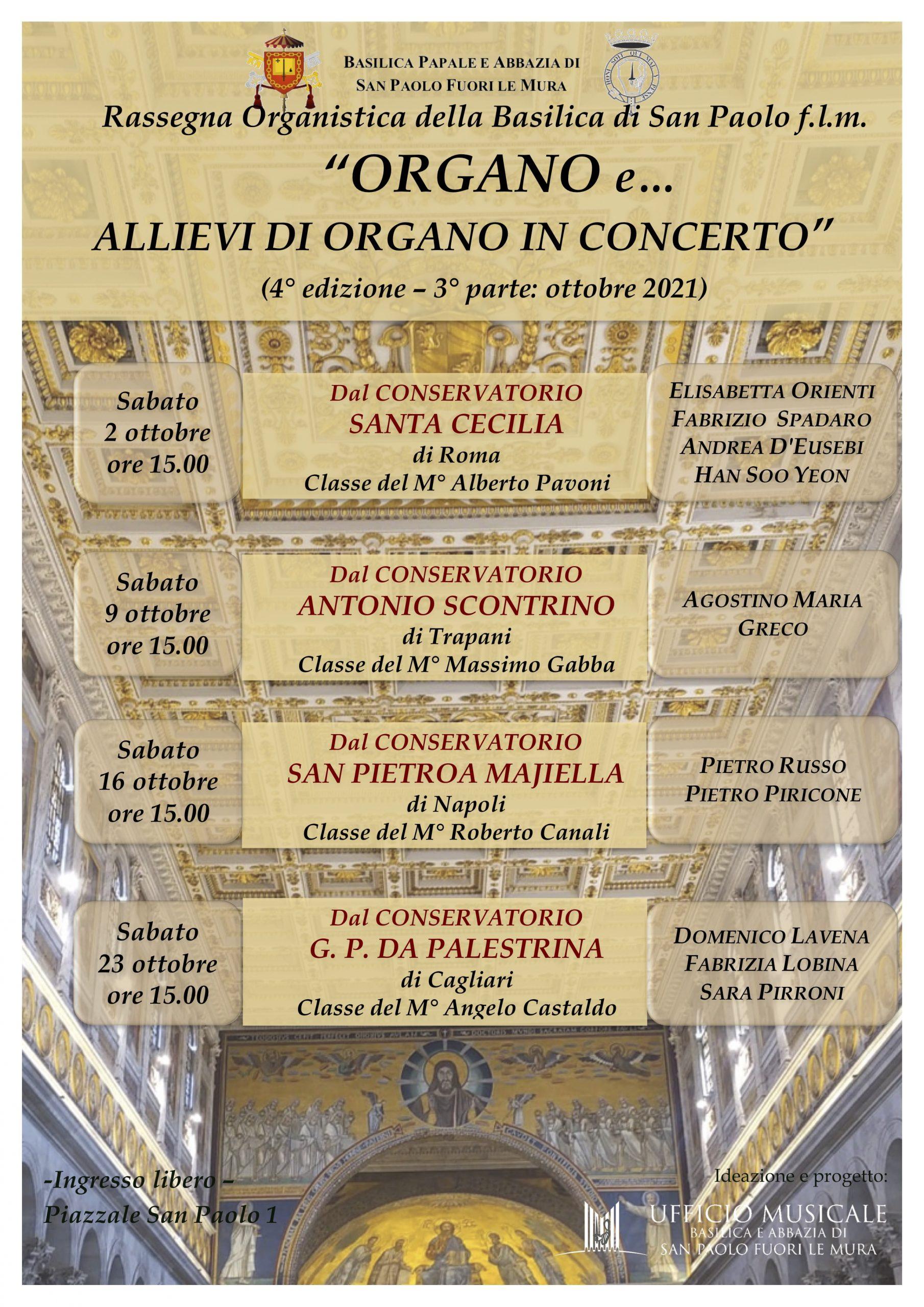 Rassegna Organo e… 2021 parte 3 allievi in concerto