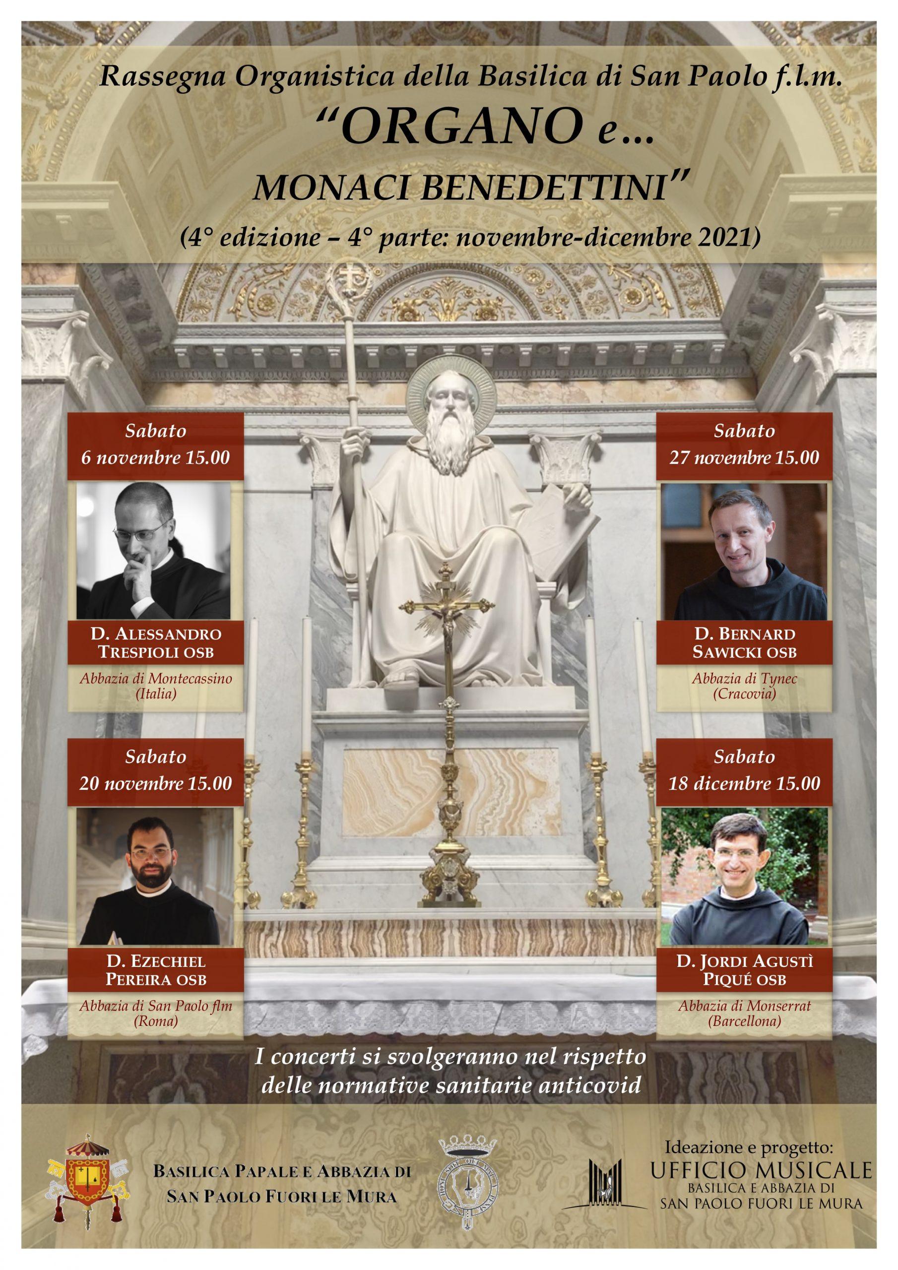 Rassegna Organo e… 2021 parte 4 Monaci benedettini